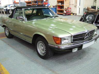 Mercedes Benz Restoration - Car Welding Hampshire, Classic Car